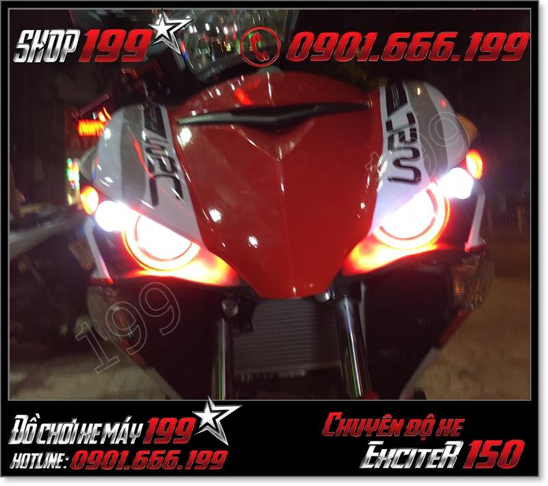 Thay thế đèn mắt cú led gương cầu U3 U5 U7 cho xe yamaha ex 150 135 2015-2016 cực đẹp giá rẻ tại HCM