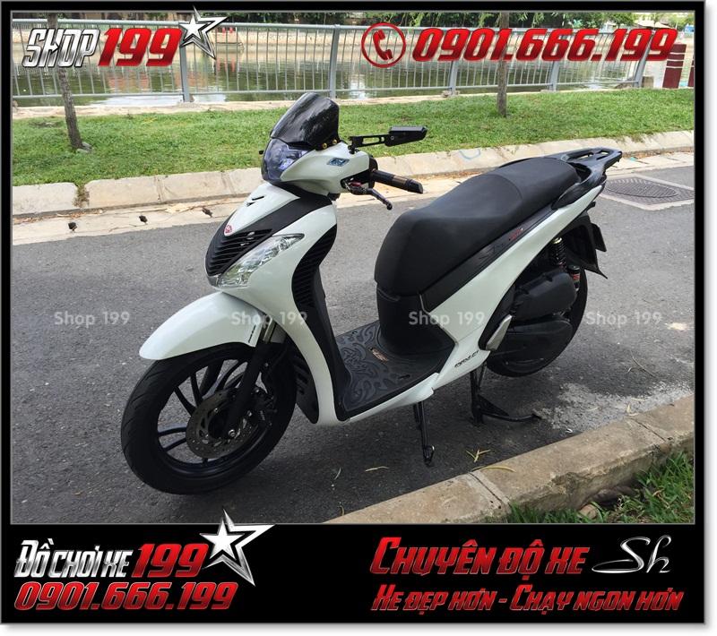 Chế full combo dàn mủ SH nhập Ý 2010 2011 cho xe Honda SH Việt Nam 125i 150i smartkey 2015 2016 2017 ở TP HCM - Shop 199 độ xe SH: 0901.666.199