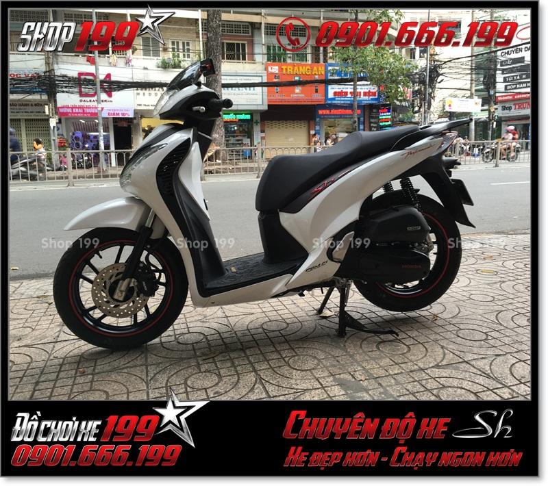 Độ full combo dàn lông SH nhập Ý 2010 2011 cho xe Honda SH Việt Nam 125i 150i smartkey 2015 2016 2017 tại HCM 9138 - SH Việt Nam lên Ý: 0901.666.199