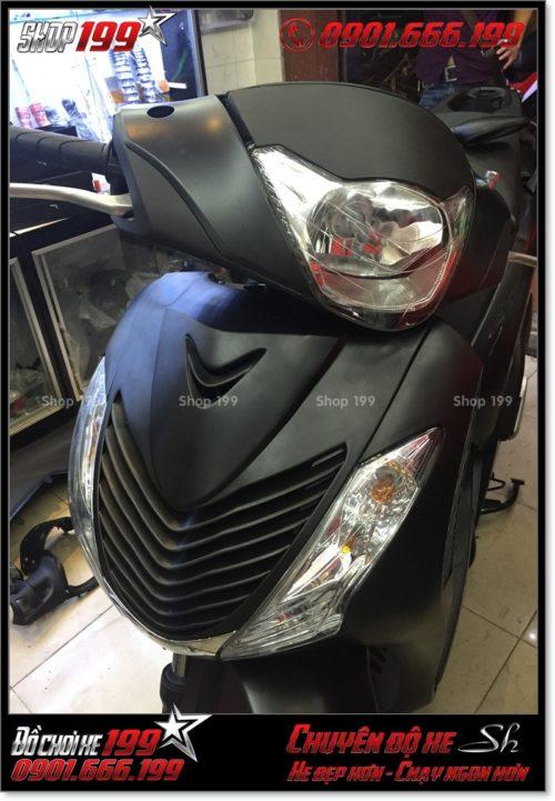 Gắn combo dàn lông SH nhập Italia 2010 2011 cho xe Honda SH VN 125i 150i khóa từ 2015 2016 2017 ở HCM - Dịch vụ độ SH Việt lên nhập: 0901.666.199