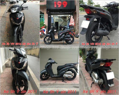 Phân biệt so sánh SH Việt Nam lên dàn áo SH nhập và SH Ý 2011 - SH Việt lên giống SH Ý tại Shop 199: 0901.666.199