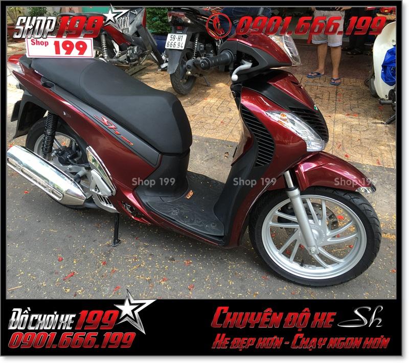 Xe Honda SH Việt 125i 150i 2016 2017 khóa từ gắn full dàn mủ SH nhập Ý 2010 2011 giá bao nhiêu tiền tại Sài Gòn 2825 - Shop độ SH chuyên nghiệp: 0901.666.199