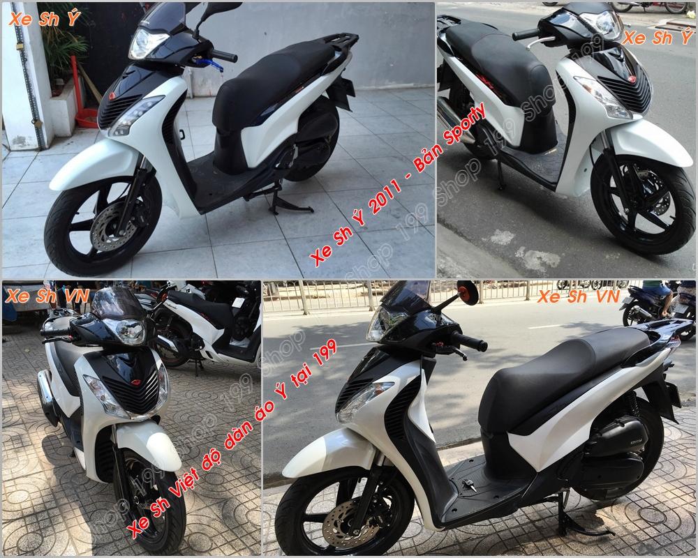 Xe Honda SH Việt Nam độ lên dàn áo SH nhập Ý 2010 2011 cao cấp tại Shop 199 ở Sài Gòn: 0901.666.199