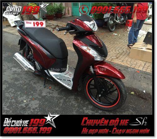 Xe SH Việt 125i 150i 2016 2017 smartkey độ combo dàn mủ SH nhập Ý 2010 2011 giá bao nhiêu tiền ở Sài Gòn 1643 - Shop 199 chuyên độ xe SH tại HCM: 0901.666.199