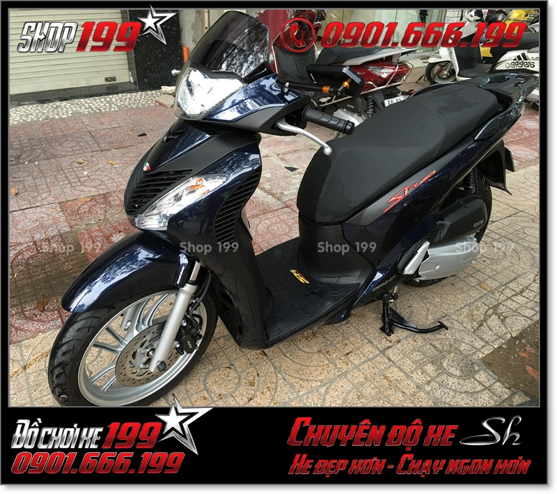 Xe SH Việt 125i 150i 2016 2017 smartkey gắn combo dàn áo SH nhập Italia 2010 2011 giá bao nhiêu tiền ở Sài Gòn 0019