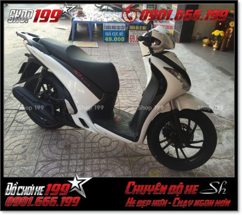 Xem hình xe Honda SH Việt Nam 125i 150i 2016 2017 độ lên giống SH nhập Italy 150i 2010 2011 với dàn áo SH nhập khẩu tại TP HCM