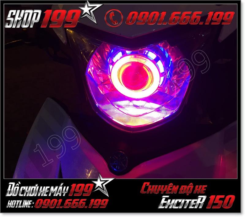 Cửa hàng độ đèn pha led gương cầu 2 vòng đèn cho xe yamaha ex 150 135 2015-2016 đẳng cấp giá rẻ ở TP Hồ Chí Minh
