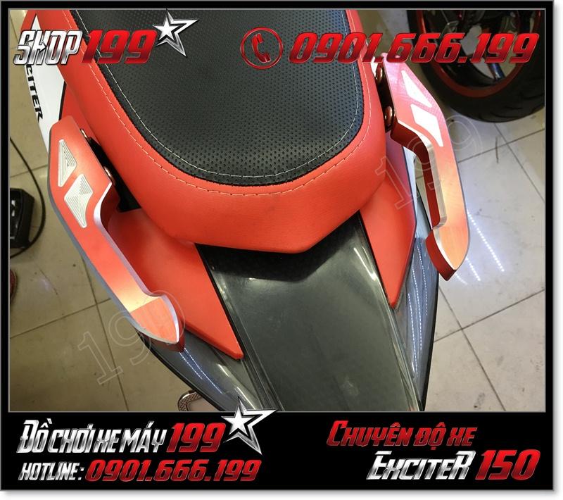 Gắn cản dắt xe baga sau CNC nhôm Biker cho xe yamaha exciter 150cc 135cc 2015-2016 cực đẹp giá rẻ ở tphcm 4217 - Phụ tùng trang trí cho xe exciter 150 2015 giá rẻ