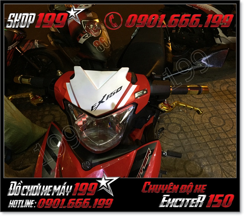 Bán ốp mão đầu cho Exciter 150 135 cực đẹp giá rẻ tại HCM 2015 2016