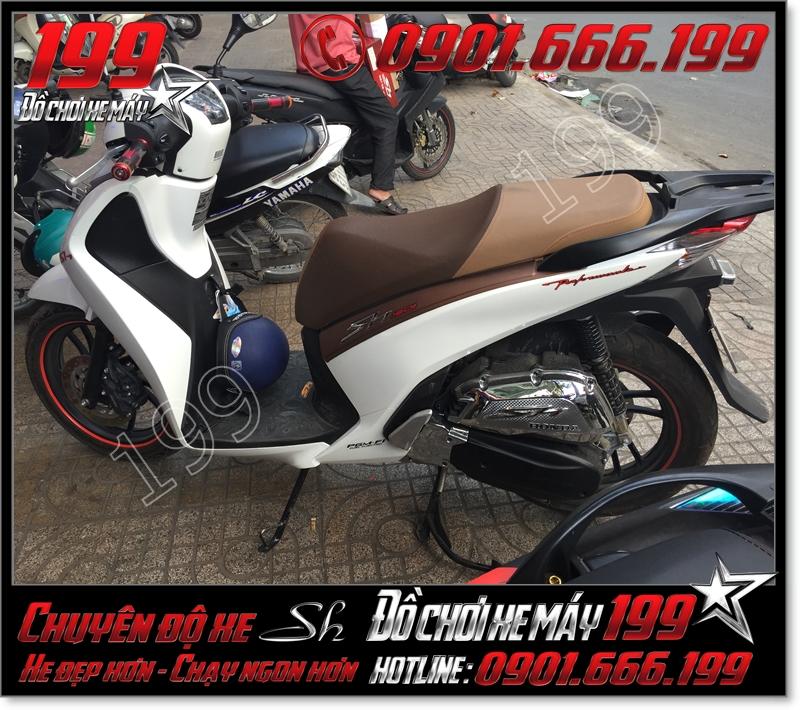 Bọc lại da yên xe máy SH Ý 2012 2013 2014 2015 2016 125i 150i giá bao nhiêu tiền ở TPHCM
