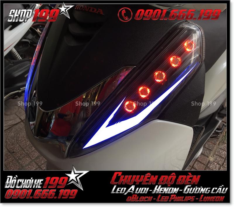 Độ đèn led audi cho xe máy SH 300i đẹp đẳng cấp tại Tp HCM Quận 1 2006-2011