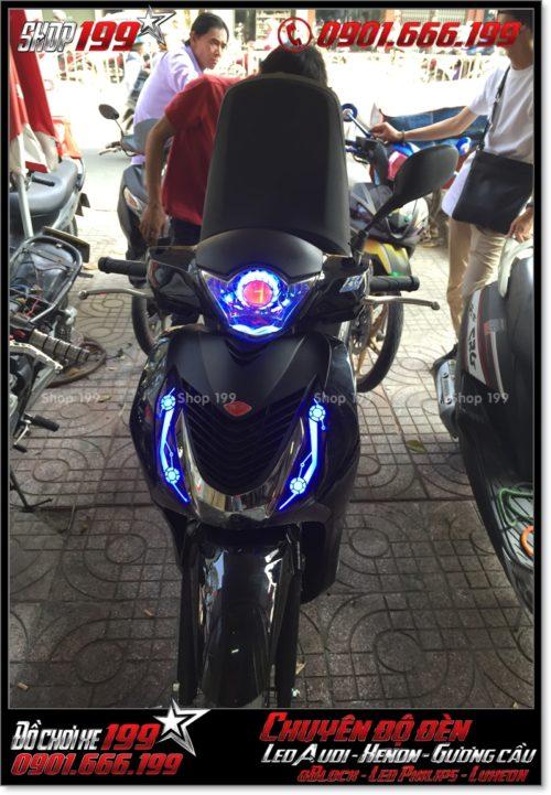 Chế đèn led audi cho xe máy SH Việt Nam 2012 2013 2014 2015 2016 125i 150i đẹp cao cấp ở HCM Quận 5 2002-2016
