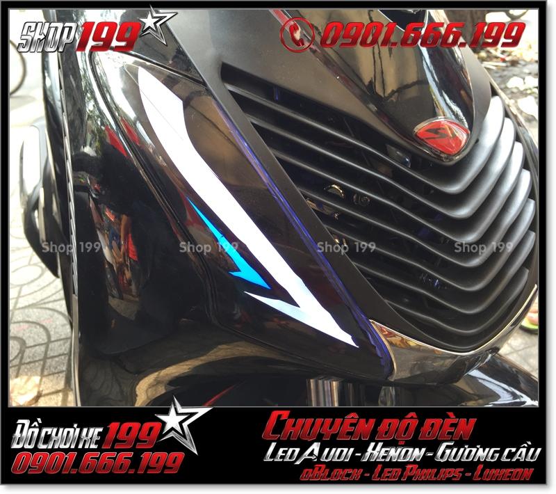 Làm đèn led audi cho xe máy SH VN 2012 2013 2014 2015 2016 125i 150i đẹp đẳng cấp tại HCM Q4 2005-2016