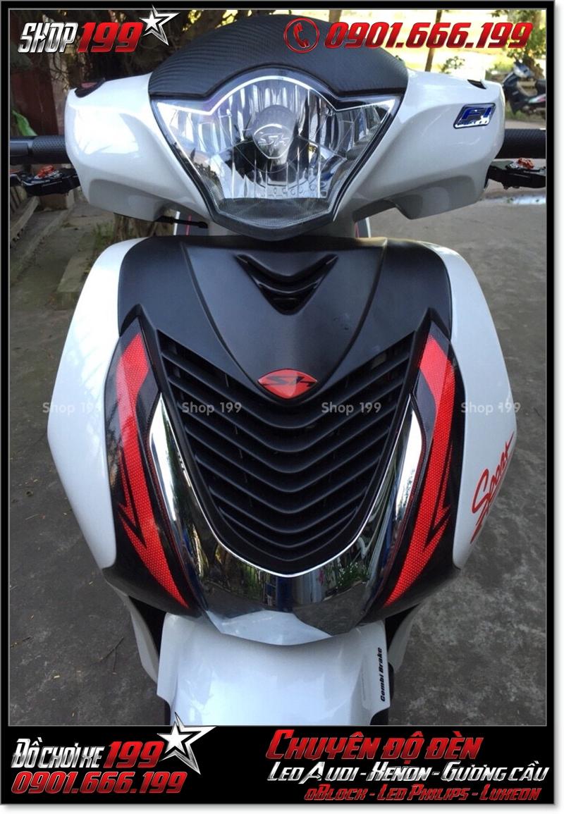 Chế đèn led audi cho xe máy SH Việt 2012 2013 2014 2015 2016 125i 150i đẹp sang trọng tại Tp HCM Q6 2004-2018