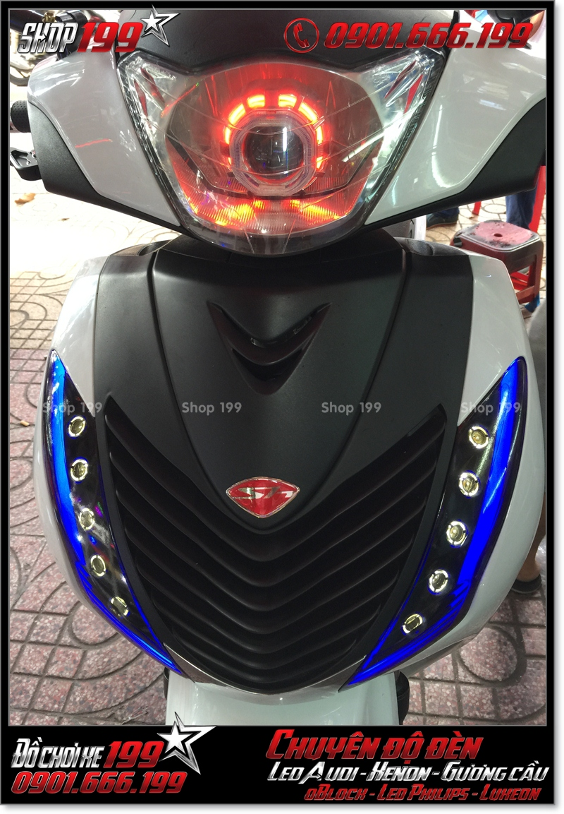 Độ đèn led audi cho xe máy honda SH Việt Nam 2012 2013 2014 2015 2016 125i 150i đẹp mắt sang trọng ở HCM Quận 10 2008-2016