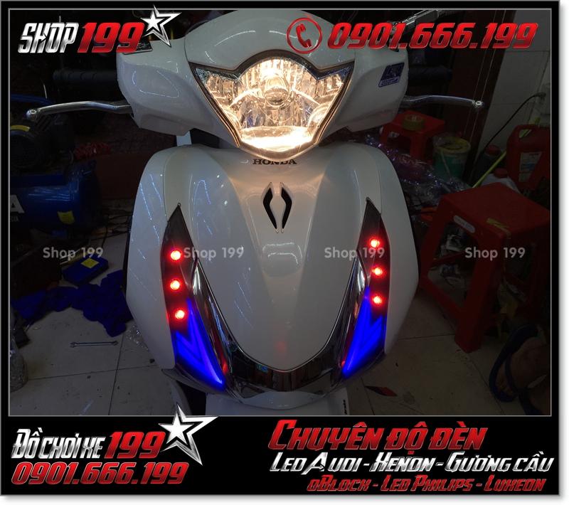 Làm đèn led audi cho xe máy honda SH Việt Nam 2012 2013 2014 2015 2016 125i 150i đẹp mắt sang trọng tại HCM Q11 2003-2016