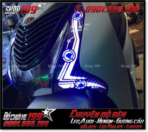 Độ đèn led audi cho xe máy honda SH VN 2012 2013 2014 2015 2016 125i 150i đẹp mắt đẳng cấp tại Tp HCM Quận 4 2001-2019