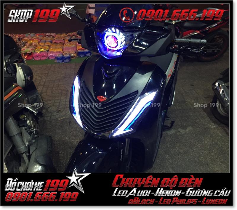Làm đèn led audi cho xe máy SH Việt 2012 2013 2014 2015 2016 125i 150i đẹp đẳng cấp tại TPHCM Quận 9 2001-2018