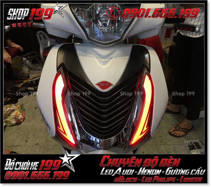 Làm đèn led audi cho xe máy honda SH Việt Nam 2012 2013 2014 2015 2016 125i 150i đẹp mắt đẳng cấp tại Tp HCM Q6 2001-2016
