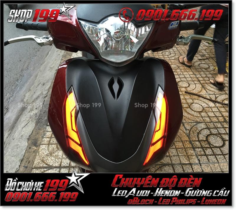 Làm đèn led audi cho xe máy honda SH Việt 2012 2013 2014 2015 2016 125i 150i đẹp đẳng cấp tại Tp HCM Q1 2001-2017