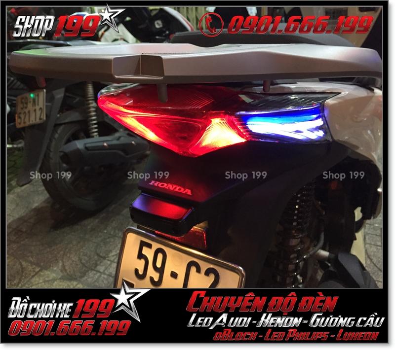 Làm đèn led audi cho xe máy SH VN 2012 2013 2014 2015 2016 125i 150i đẹp cao cấp ở HCM Q1 2002-2018