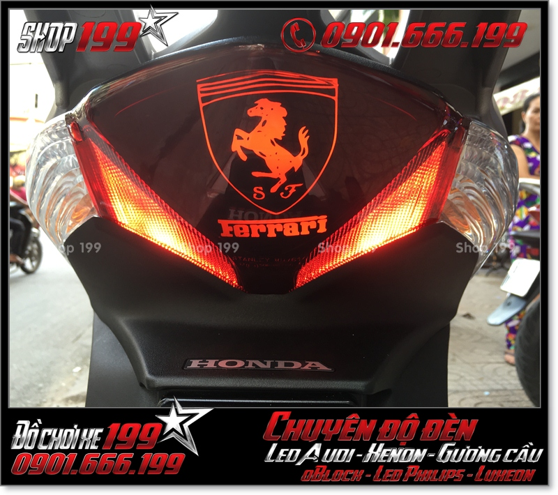 Làm đèn led audi cho xe máy SH Việt 2012 2013 2014 2015 2016 125i 150i đẹp sang trọng ở TPHCM Quận 3 2001-2019