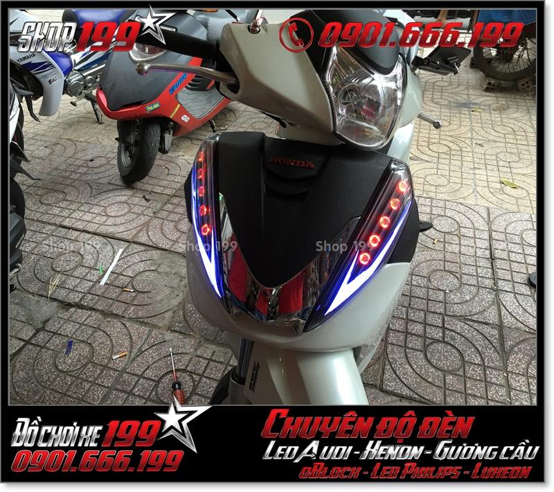 Làm đèn led audi cho xe máy honda SH 300i đẹp cao cấp ở TPHCM Tân Bình 2004-2018
