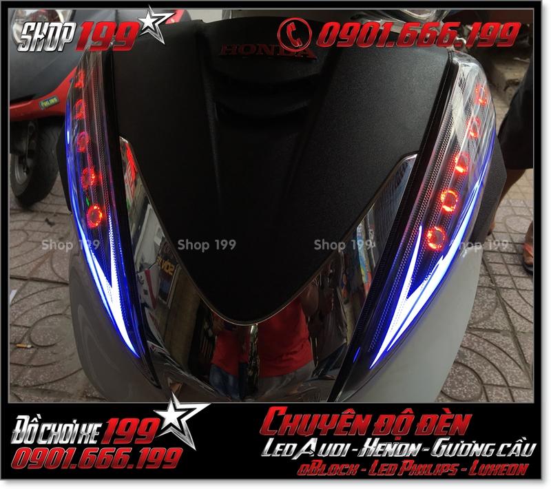 Làm đèn led audi cho xe máy SH 300i đẹp mắt đẳng cấp ở HCM Quận 6 2005-2012