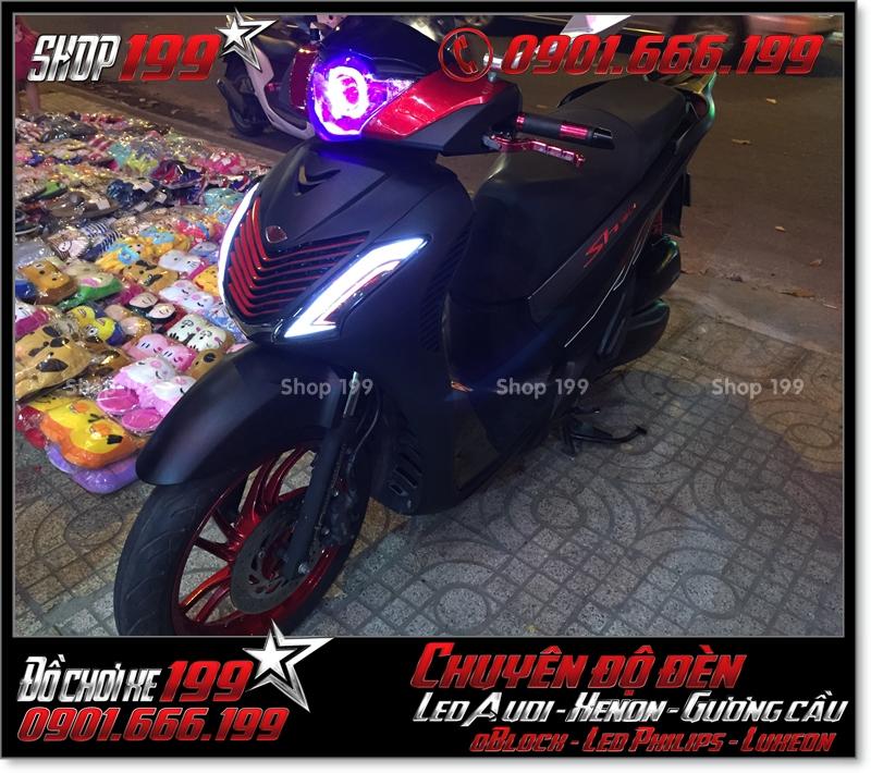 Độ đèn led audi cho xe máy honda SH Việt 2012 2013 2014 2015 2016 125i 150i đẹp mắt cao cấp ở Tp HCM Quận 7 2000-2019