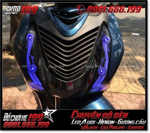 Độ đèn led audi cho xe máy honda SH Việt Nam 2012 2013 2014 2015 2016 125i 150i đẹp mắt cao cấp ở TPHCM Quận 12 2004-2016