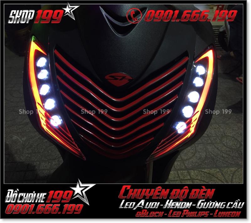 Độ đèn led audi cho xe máy honda SH Việt 2012 2013 2014 2015 2016 125i 150i đẹp sang trọng ở Tp HCM Quận 10 2009-2017