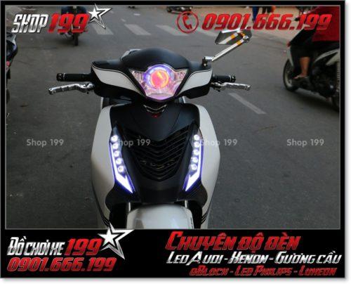 Chế đèn led audi cho xe máy SH Việt 2012 2013 2014 2015 2016 125i 150i đẹp mắt đẳng cấp tại TPHCM Q1 2005-2017