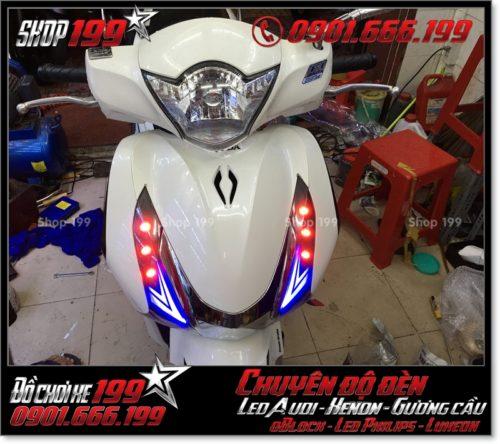 Chế đèn led audi cho xe máy SH Việt 2012 2013 2014 2015 2016 125i 150i đẹp đẳng cấp ở TPHCM Q12 2000-2017