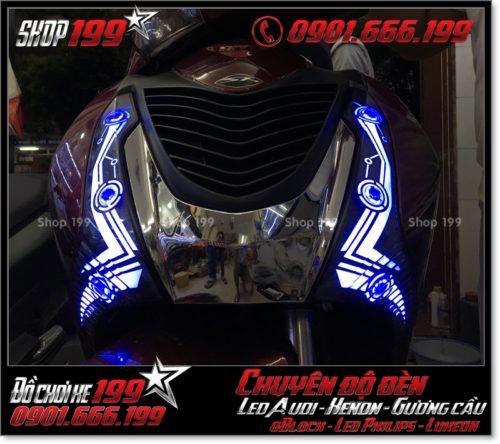 Chế đèn led audi cho xe máy SH Việt Nam 2012 2013 2014 2015 2016 125i 150i đẹp mắt đẳng cấp tại HCM Q3 2001-2019