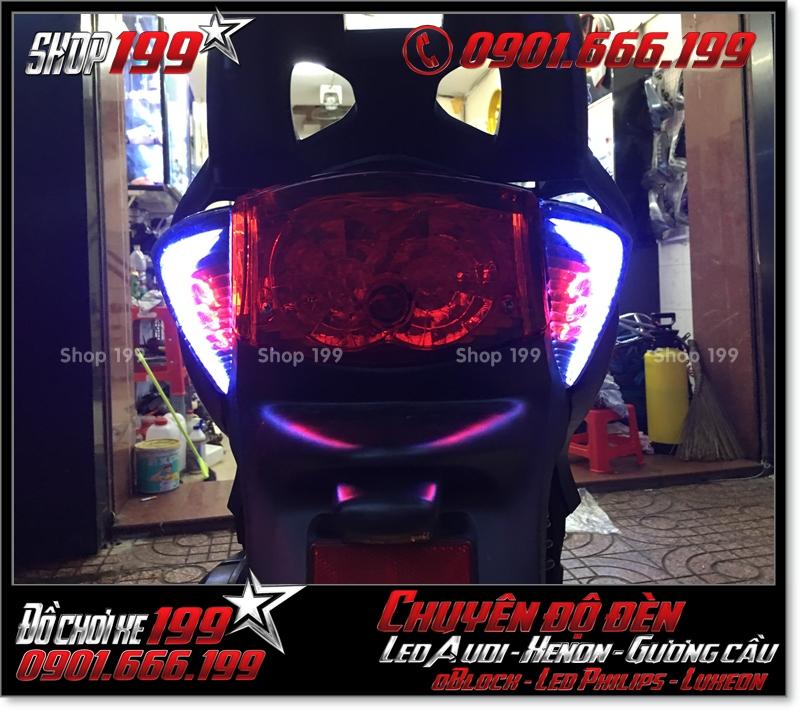 Chế đèn led audi cho xe máy honda SH Việt 2012 2013 2014 2015 2016 125i 150i đẹp mắt sang trọng tại HCM Q7 2002-2017