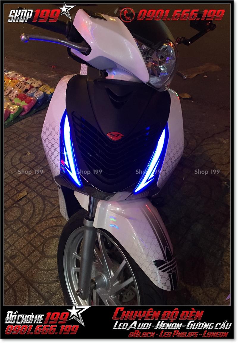 Độ đèn led audi cho xe máy SH Việt 2012 2013 2014 2015 2016 125i 150i đẹp mắt đẳng cấp ở Tp HCM Quận 5 2002-2016