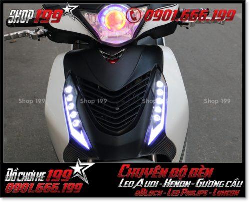 Chế đèn led audi cho xe máy SH VN 2012 2013 2014 2015 2016 125i 150i đẹp đẳng cấp ở Tp HCM Q3 2003-2019