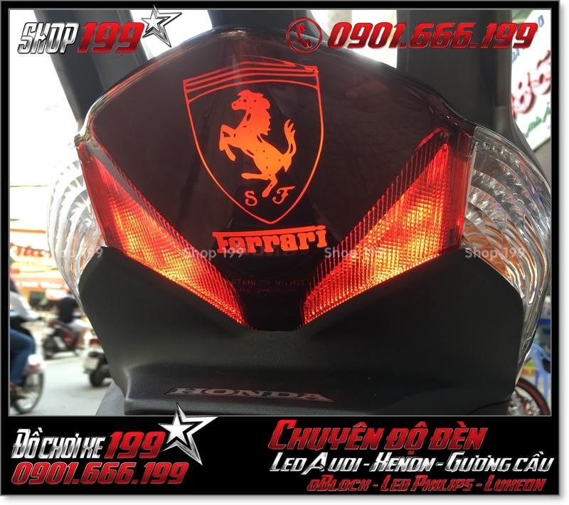 Chế đèn led audi cho xe máy SH VN 2012 2013 2014 2015 2016 125i 150i đẹp sang trọng ở TPHCM Q12 2003-2017