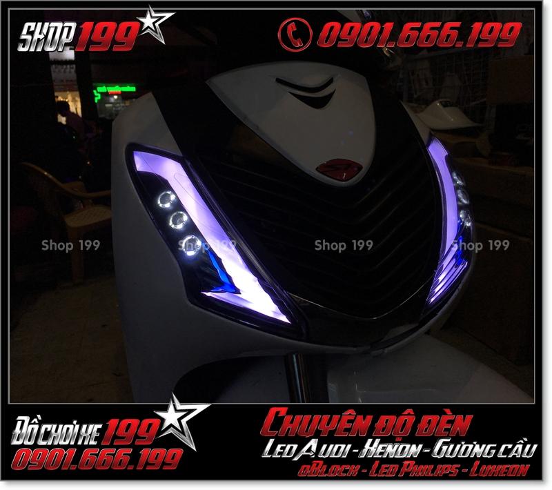 Chế đèn led audi cho xe máy honda SH Việt Nam 2012 2013 2014 2015 2016 125i 150i đẹp mắt sang trọng tại TPHCM Q4 2003-2016
