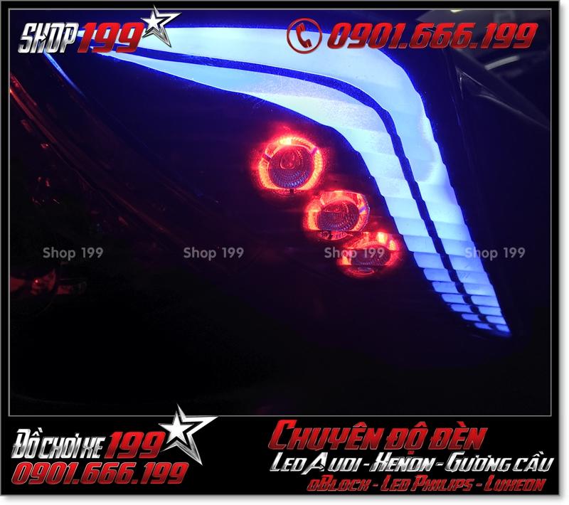 Chế đèn led audi cho xe máy honda SH VN 2012 2013 2014 2015 2016 125i 150i đẹp mắt cao cấp tại HCM Q2 2005-2018