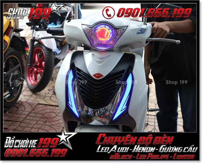 Chế đèn led audi cho xe máy SH Việt Nam 2012 2013 2014 2015 2016 125i 150i đẹp mắt sang trọng ở HCM Quận 9 2004-2017
