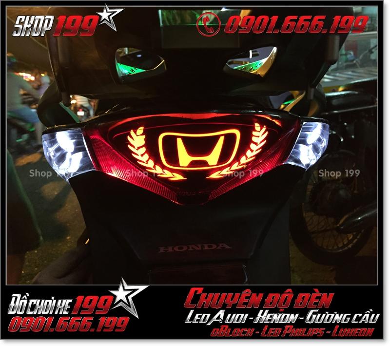 Làm đèn led audi cho xe máy SH Việt Nam 2012 2013 2014 2015 2016 125i 150i đẹp sang trọng tại HCM Q7 2007-2018