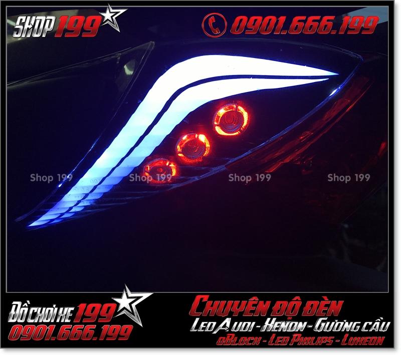 Độ đèn led audi cho xe máy SH Việt 2012 2013 2014 2015 2016 125i 150i đẹp mắt cao cấp ở HCM Quận 10 2005-2019
