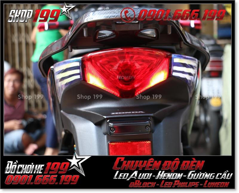 Độ đèn led audi cho xe máy honda SH Việt Nam 2012 2013 2014 2015 2016 125i 150i đẹp cao cấp ở Tp HCM Q4 2003-2016
