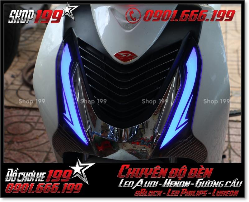 Độ đèn led audi cho xe máy SH VN 2012 2013 2014 2015 2016 125i 150i đẹp mắt đẳng cấp ở HCM Q11 2000-2017