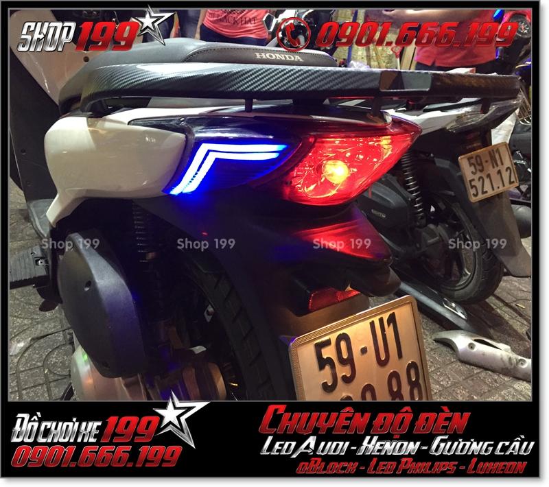 Chế đèn led audi đèn sau xinhan sau cho xe SH nhập Ý 2009 2010 2011 chuyên nghiệp ở Sài Gòn Q6 2001-2016
