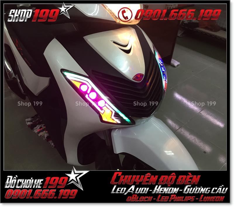 Chế đèn led audi xinhan trước cho xe honda SH 2009 2010 2011 chuyên nghiệp ở Tp HCM Q11 2004-2017
