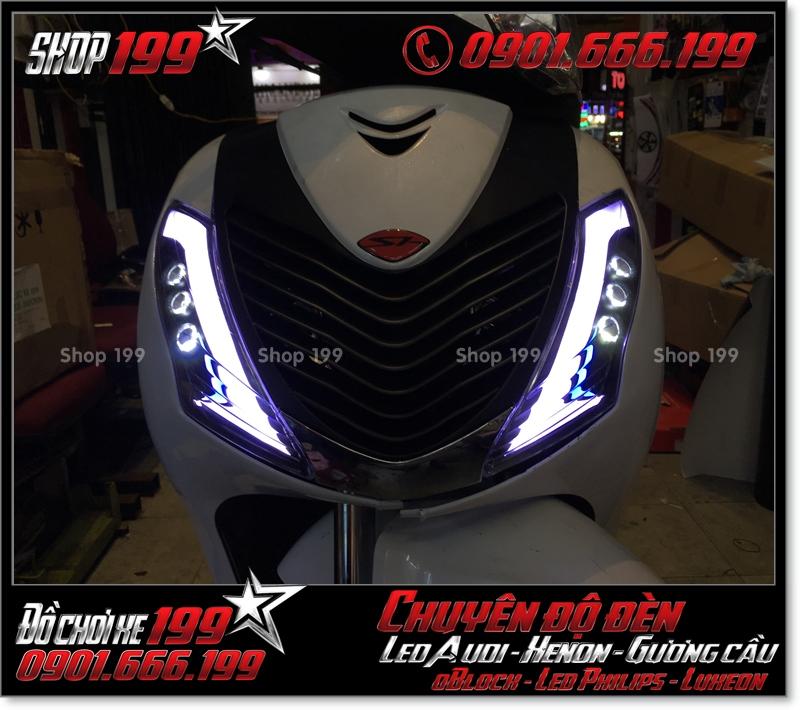 Chế đèn led audi xinhan trước cho xe honda SH 2009 2010 2011 chuyên nghiệp tại Sài Gòn Q5 2003-2017