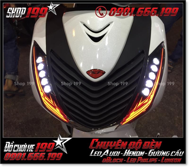 Chế đèn led audi xinhan trước cho xe honda SH 2009 2010 2011 chuyên nghiệp tại TPHCM Q2 2008-2016
