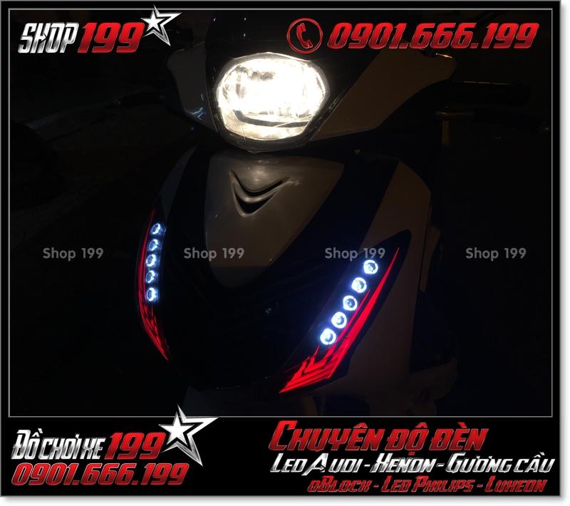 Chế đèn led audi xinhan trước cho xe SH 2009 2010 2011 chuyên nghiệp ở Sài Gòn Q6 2000-2019